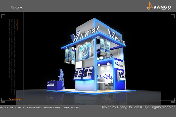 wintek展台展示设计搭建制作效果图欣赏