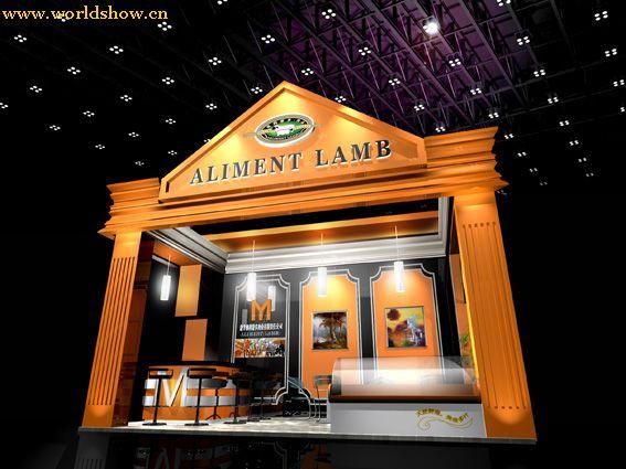 博览会展厅设计效果图,家具展厅设计效果图