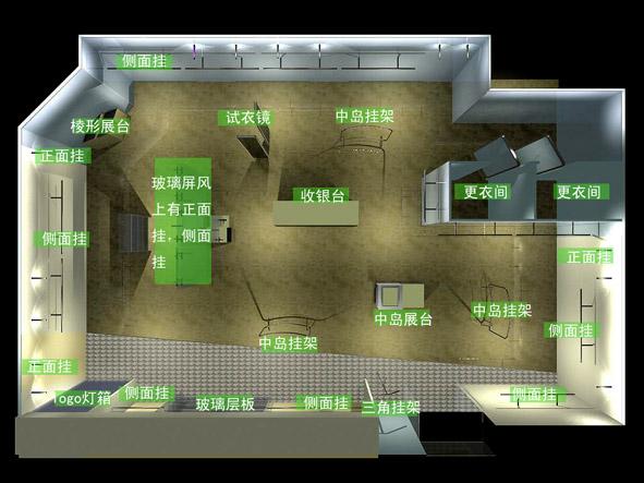 服装展台设计平面图-上海展台设计搭建_服装店平面图_展台设计平面图图片