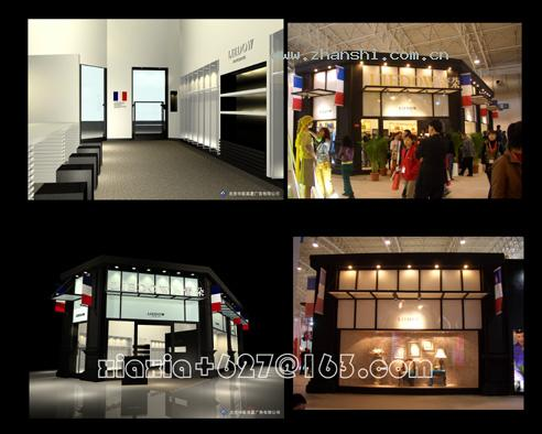 国际服装博览会展台展位设计搭建效果图欣赏