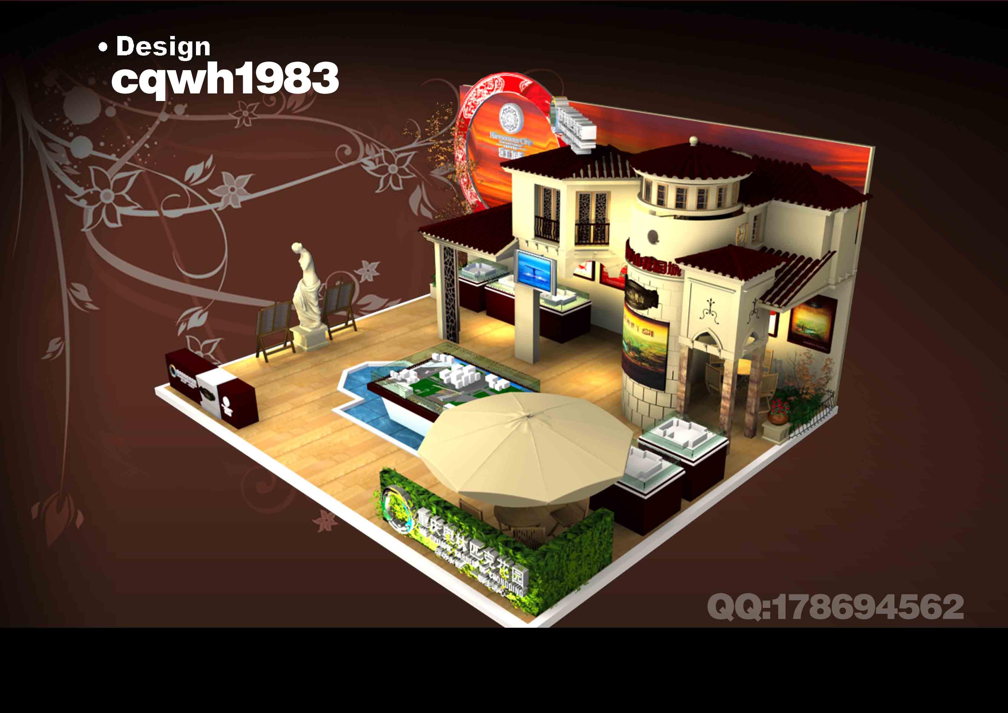 单体模型展示区展台展位设计搭建制作效果图欣赏