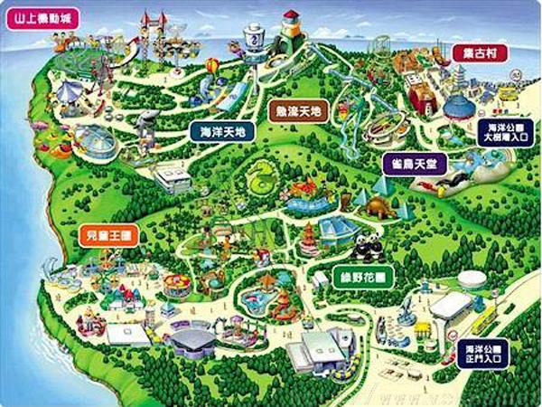 水生态风景区导览图