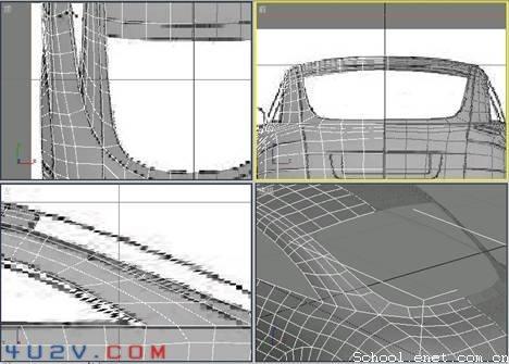 奥迪跑车--创建车顶