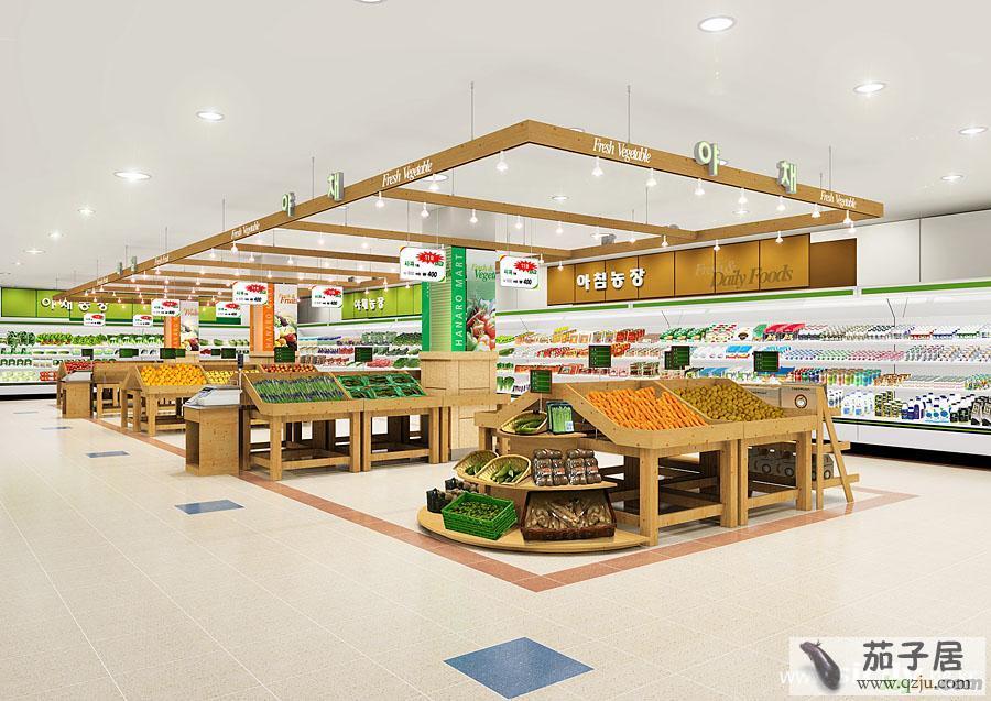 超市型水果蔬菜店装修效果图