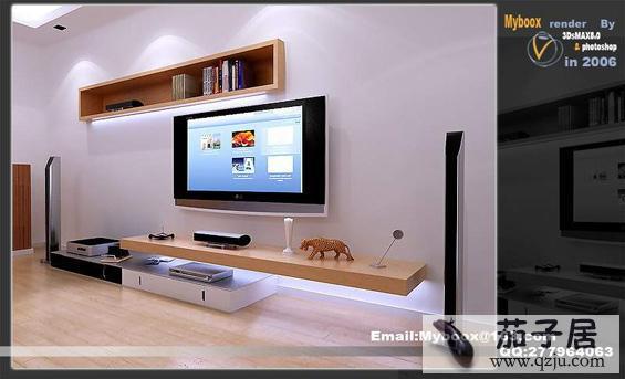 客厅装饰效果图主体墙的做法,都是采用装饰板或文化石将电视背后的