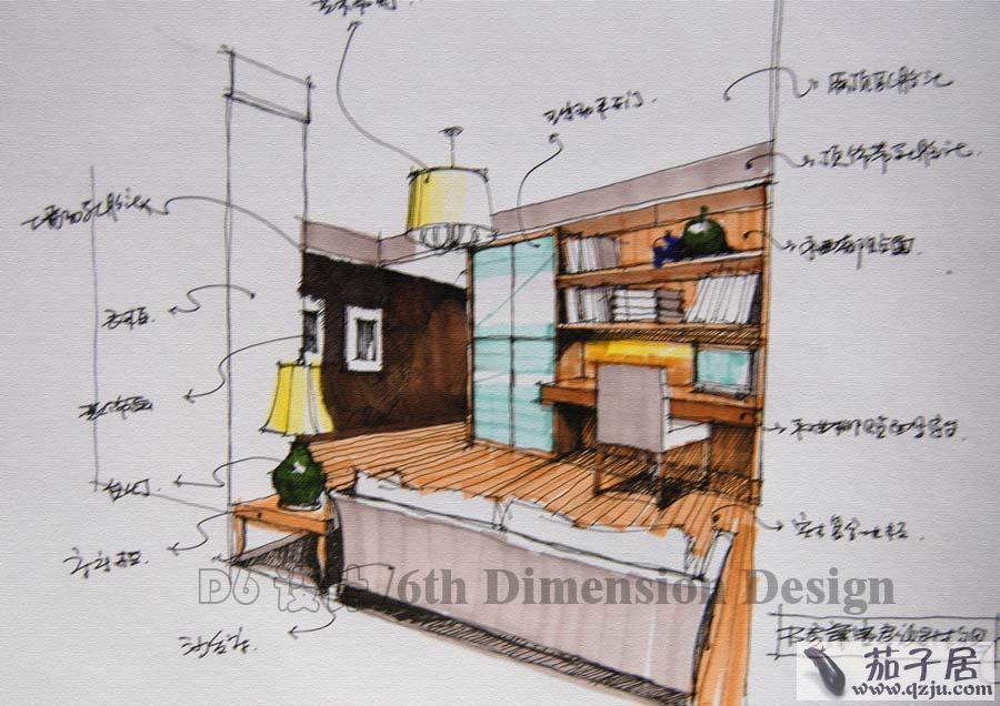 卧室,书房手绘效果图 - 中国展览设计网 国外展台搭建 展览搭建 展位设计搭建 展台设计搭建 搭建公司 布展公司 美国搭建