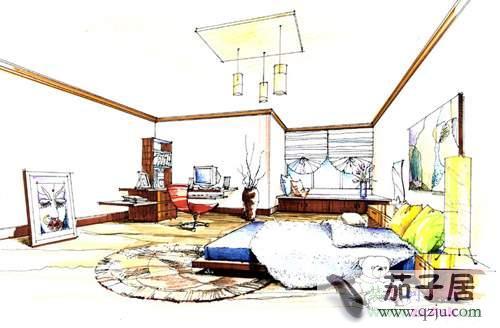 儿童房手绘效果图 - 中国展览设计网|国外展台搭建
