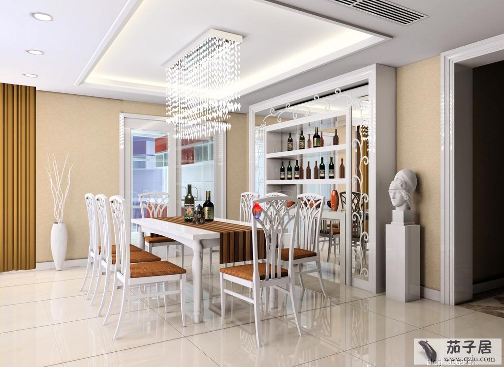 餐厅酒柜设计效果图, 厨房餐厅酒柜效果图