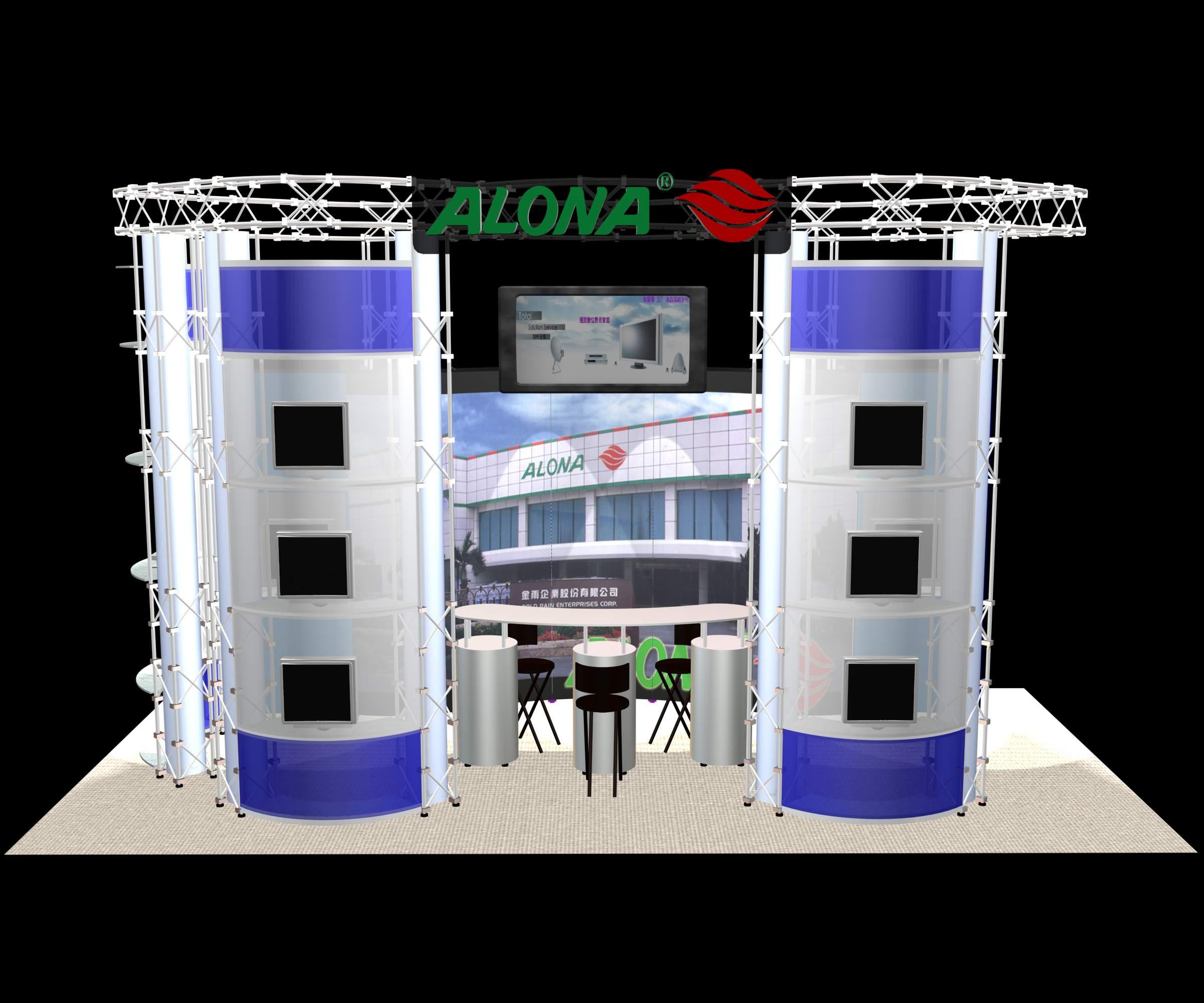 alona展位设计效果图欣赏 - 中国展览设计网|国外展台