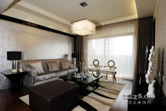 上海样板房三房二厅家居装修案例效果图