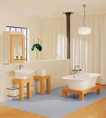 decoration and furniture design in bathroom