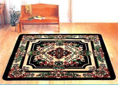 用碎布编织成的环保家居地毯