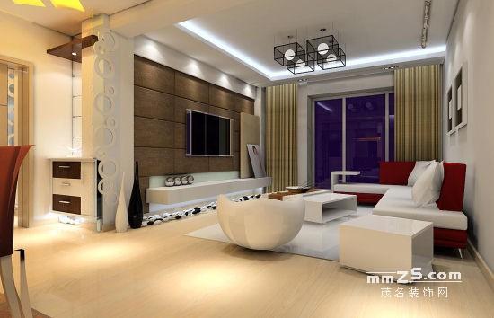120平方暖色调现代家居装修设计效果图
