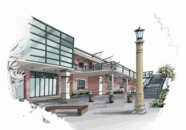 马克笔手绘 - 中国展览 设计 网|国外展台搭建|展览-展柜设计手绘效果图