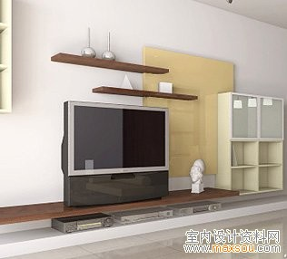 客厅电视墙效果图设计欣赏