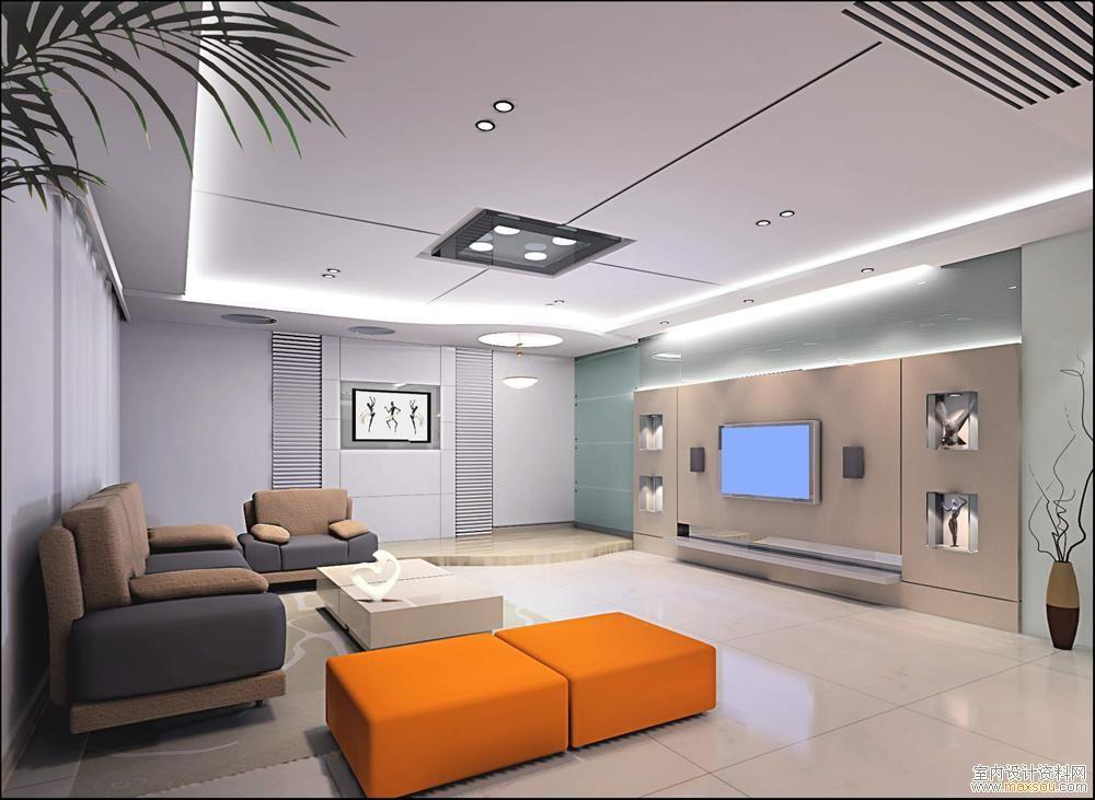 样板间:客厅影视墙效果图欣赏