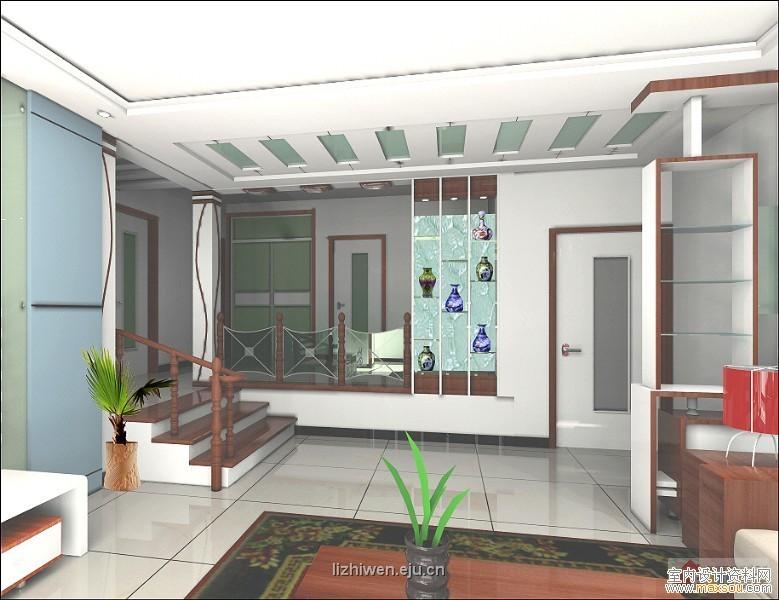 一组客厅和电视背景墙的装修效果图