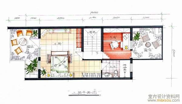 室内设计手绘平面图
