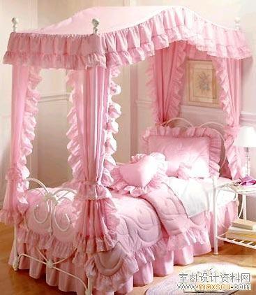 欧式风格的小公主卧室装修效果欣赏