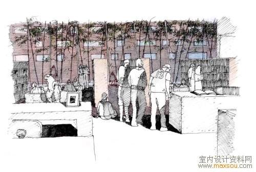 手绘效果图 - 中国展览设计网|国外展台搭建|展览搭建