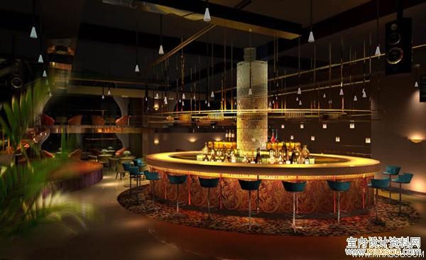 酒吧吧台效果图 - 中国展览设计网|国外展台搭建