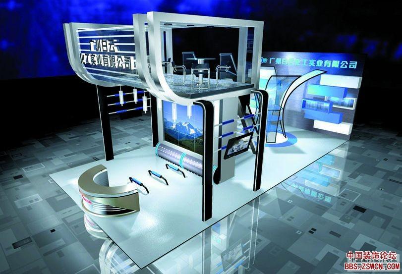 精品标准展位展示设计效果图欣赏1
