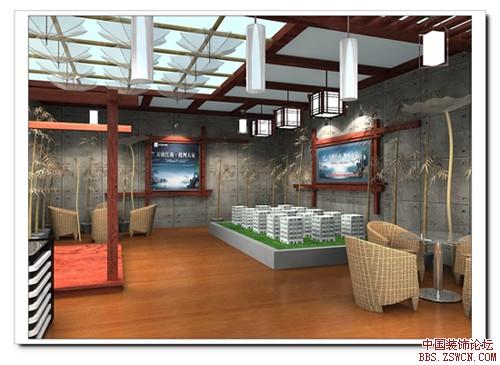 房地产展台展示设计方案效果图欣赏