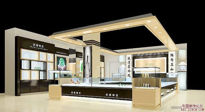 珠宝展展厅展示设计效果图欣赏2
