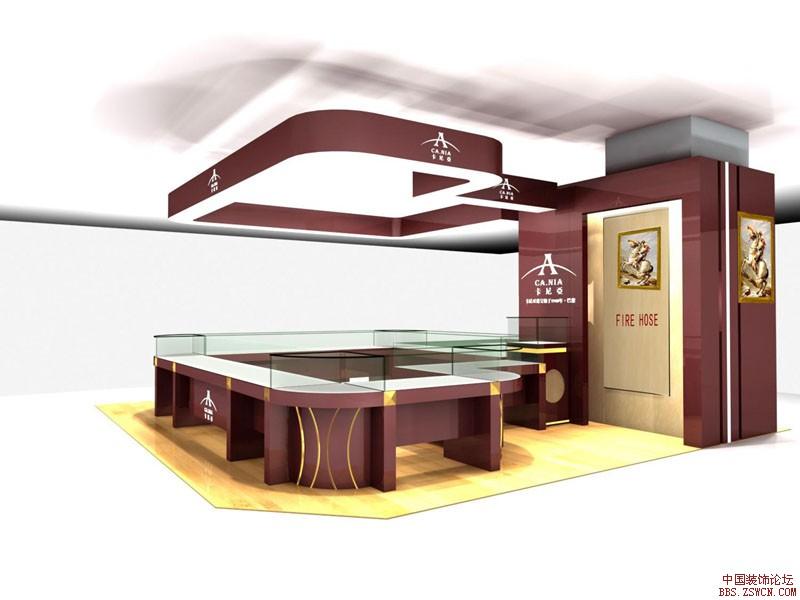 珠宝展展厅展示设计效果图欣赏3