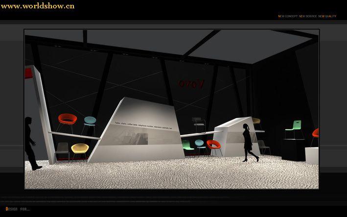 施华洛家具展台展位设计效果图欣赏