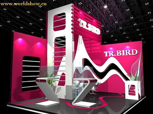 上海工艺美术学院毕业生制作的tr.bird展台设计作品