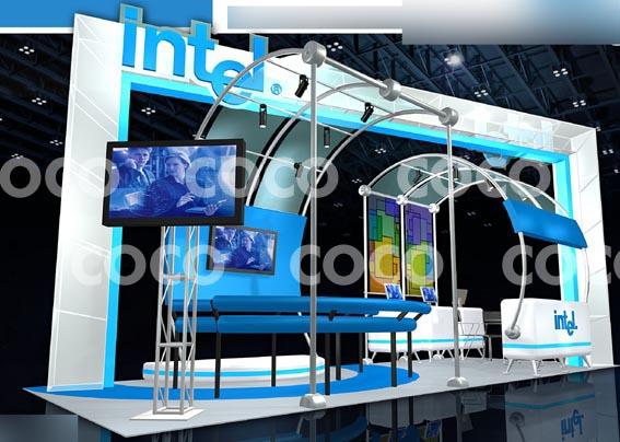 组展台展示设计效果图欣赏1