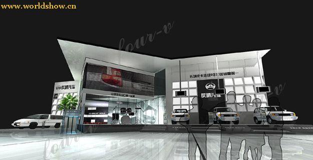汽车展厅展台设计效果图欣赏