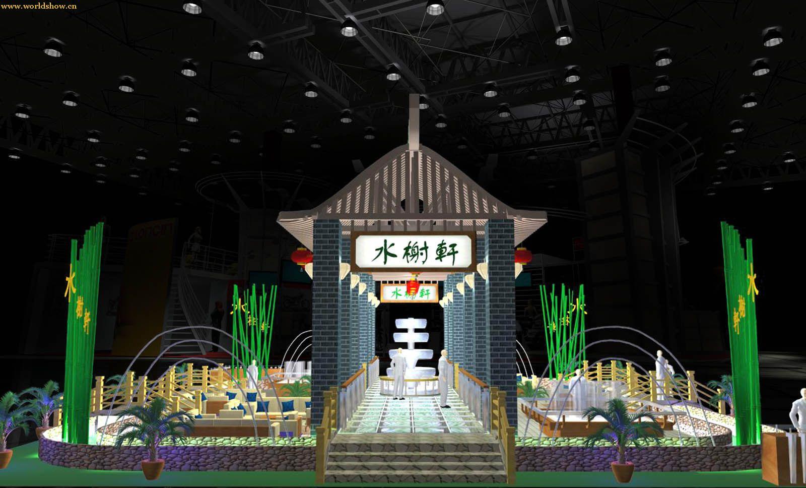 江南园庭展台展示设计效果图欣赏