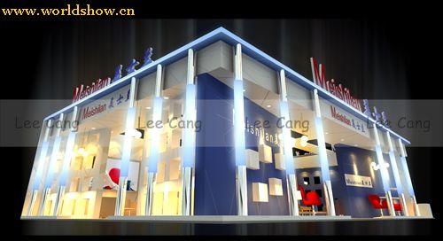 美士兰展台展示设计作品效果图欣赏
