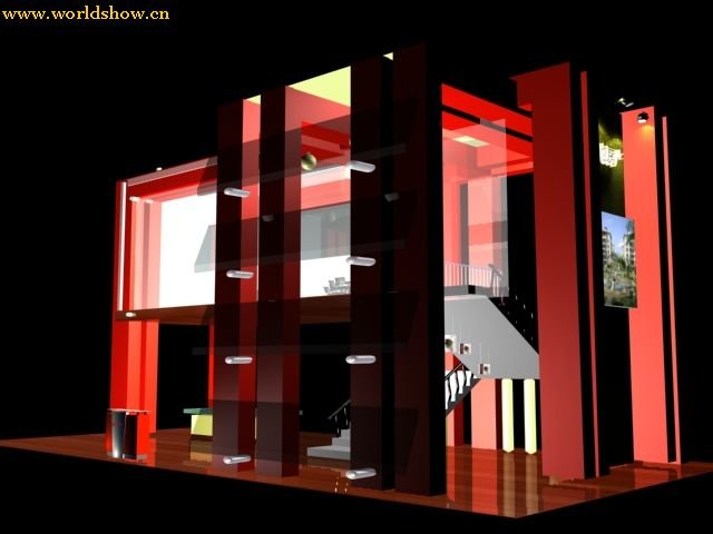 时尚展台展位设计效果图欣赏 - 中国展览设计网|国外