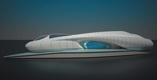 扎哈哈迪德的流动艺术展览馆 - 中国展览设计网|国外
