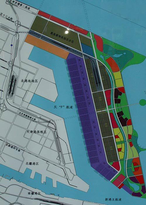 天津塘沽滨海新区规划图(组图)