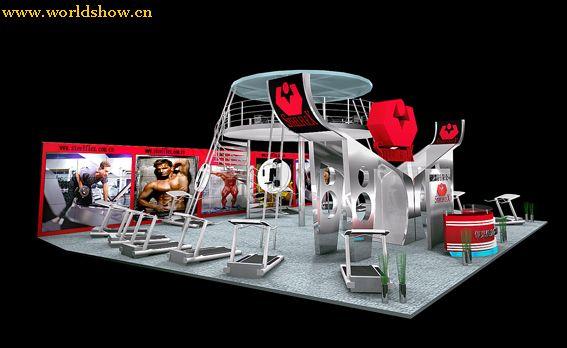 国外运动品牌设备展台展位设计效果图欣赏