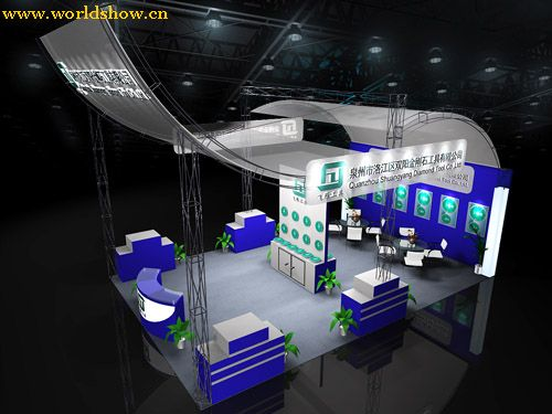 海克斯康展台设计效果图欣赏 - 中国展览设计网|国外