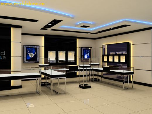 珠宝展厅设计制作效果图欣赏1