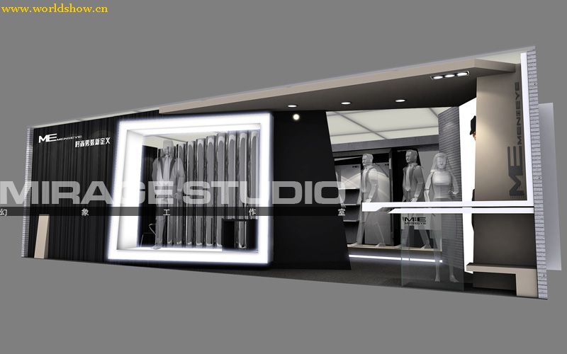 时尚男装新定义展台展示设计制作效果图欣赏