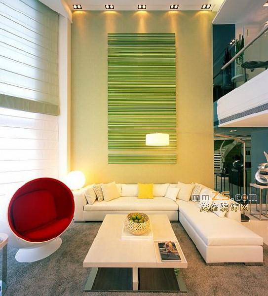 客厅背景墙,时尚休闲沙发