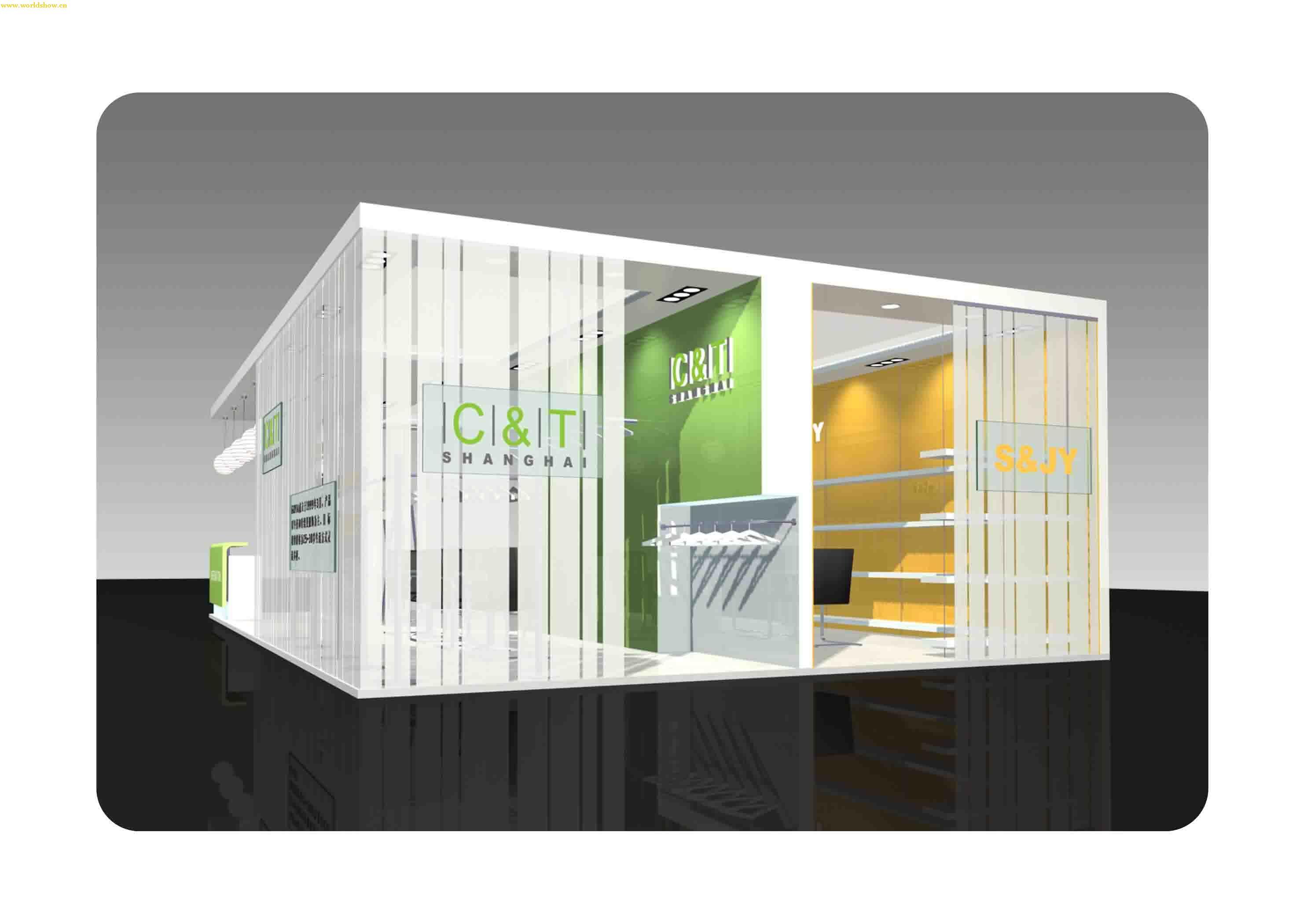 展厅展台912房屋米设计图两边有个性设计制作效果图v展厅图片