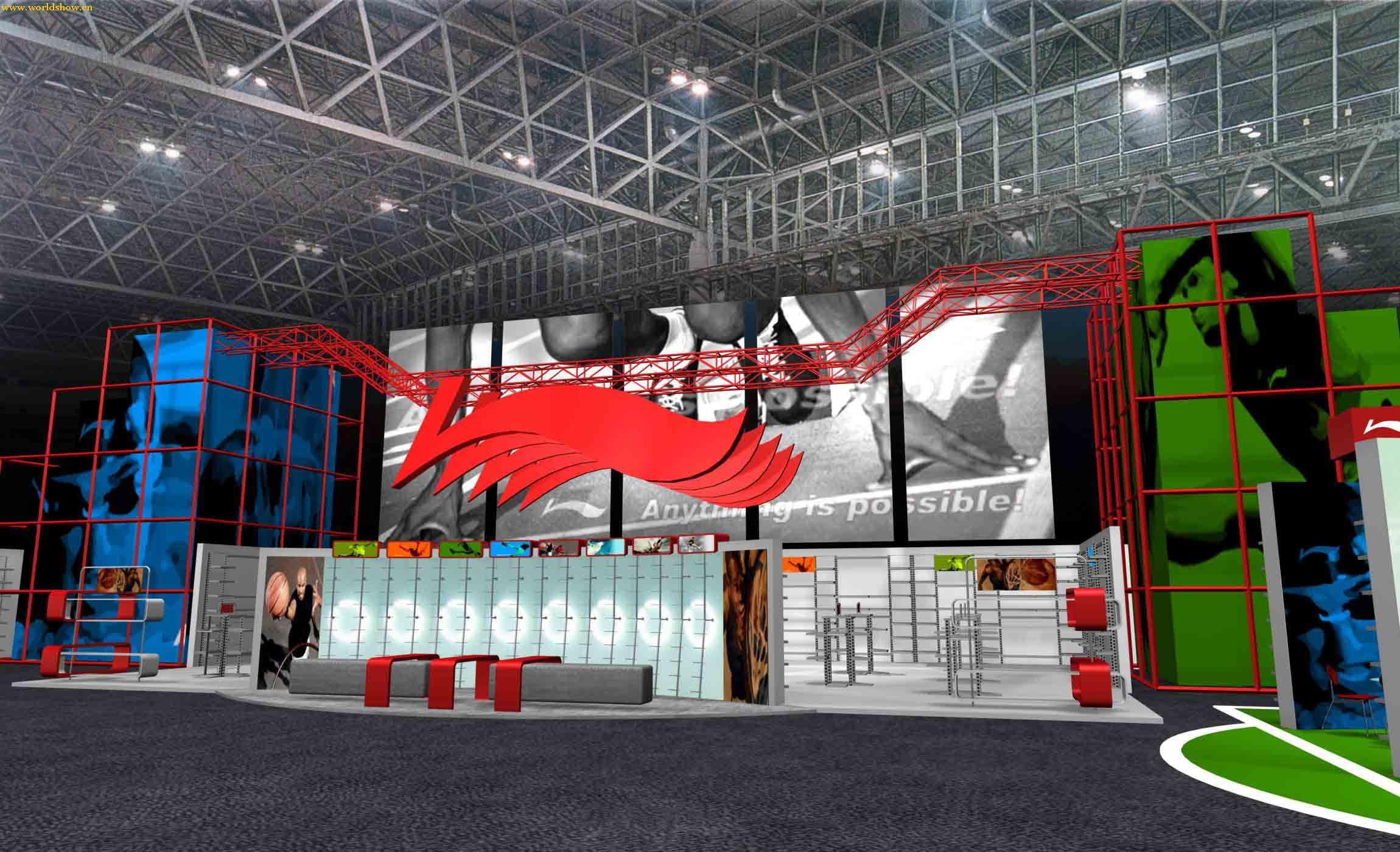 展览展台设计制作效果图欣赏1 - 中国展览设计网|国外