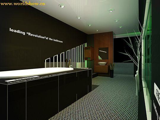 卫浴洁具展展台展位设计制作效果图欣赏
