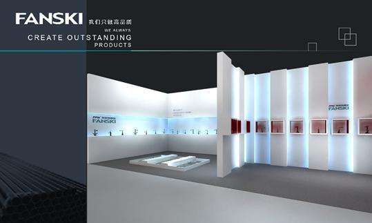 欧式展台搭建设计制作效果图欣赏