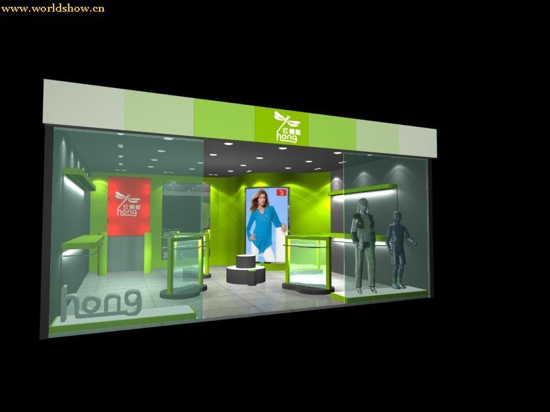 红蜻蜓服装展厅展台搭建设计效果图欣赏