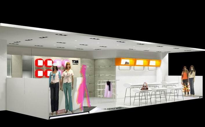 服裝專賣店展廳設計效果圖欣賞