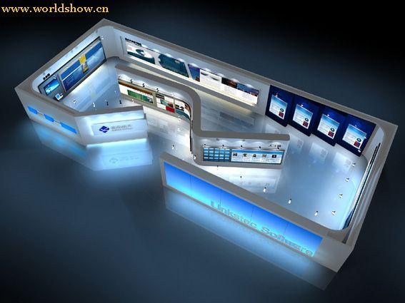 展厅欣赏展台设计制作效果图展览地铁 ui设计招聘信息图片